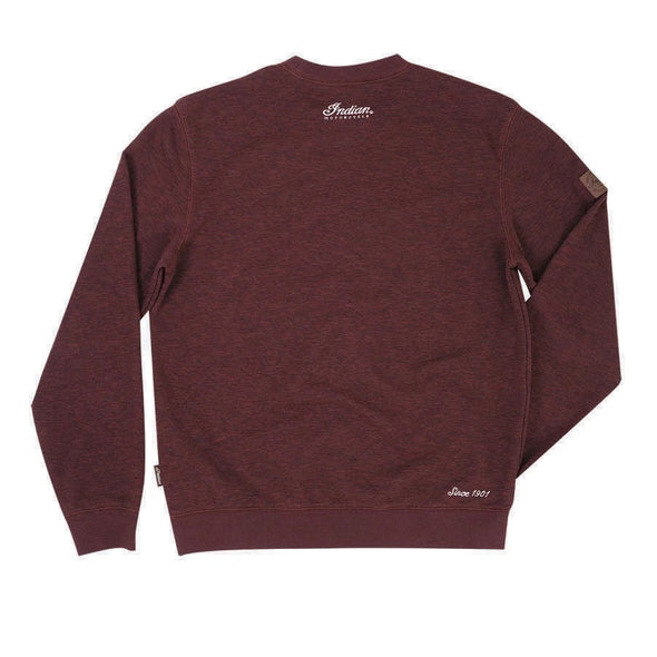 Men's Pull-Over Jumper with Block Logo -Port