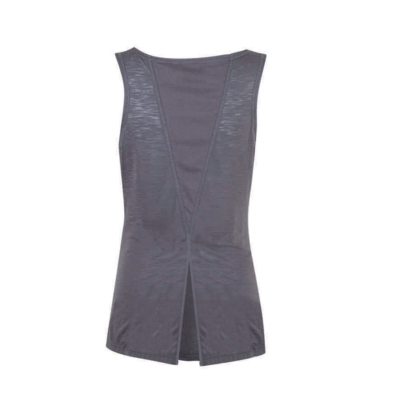 Women's Tank Top with Open Back -Gray
