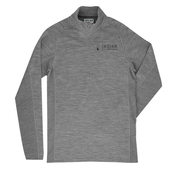 Men's Merino Half Zip Pullover Jumper -Gray