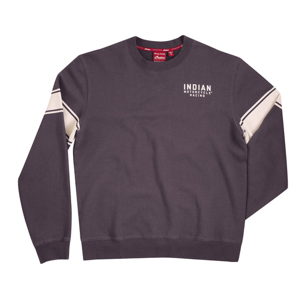 Men's Wrecking Crew Pull-Over Jumper with Stripe -Gray