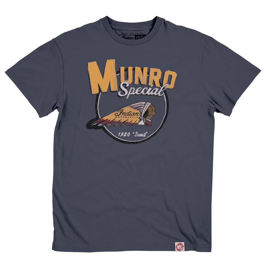Men's 1901 Munro Tee -Gray by Indian Motorcycle®
