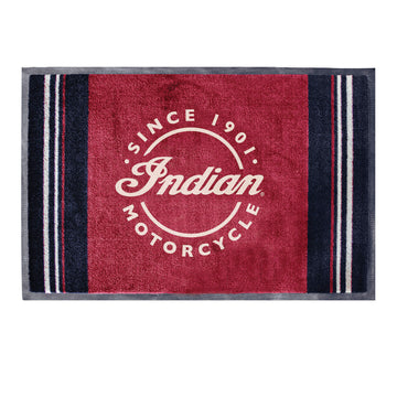 Door Mat with Icon Logo, Red/Black by Indian Motorcycle®