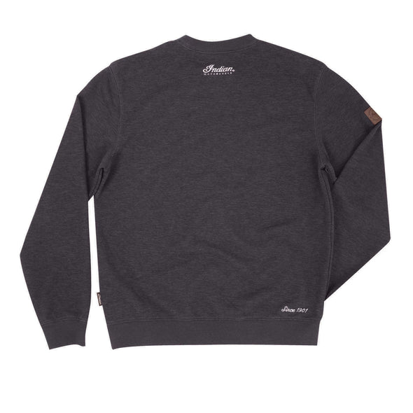 Men's Pull-Over Sweatshirt with Block Logo -Charcoal