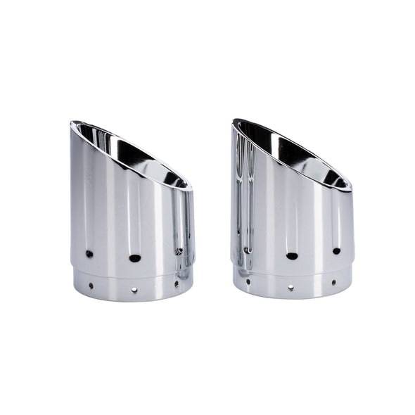 Six Shooter Exhaust Tips, Pair -Chrome