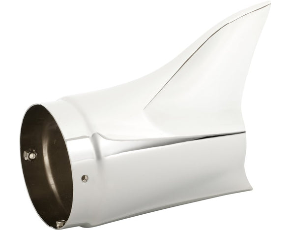 Fish Tail Exhaust Tips, Pair -Chrome