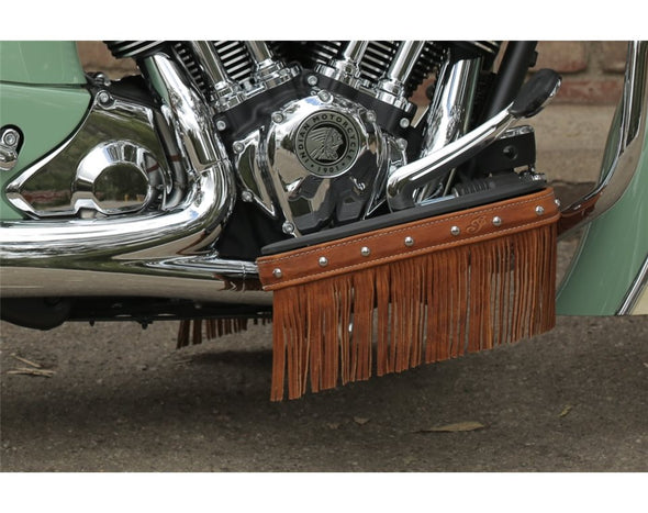 Genuine Leather Floorboard Trim With Fringe