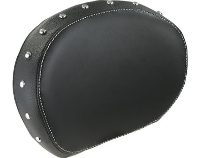 Passenger Backrest Pad - Black W/Studs