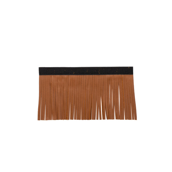 Genuine Leather Upper Saddlebag Fringe, Pair -Desert Tan