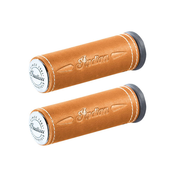 Genuine Leather Handlebar Grip Wraps, Pair -Desert Tan