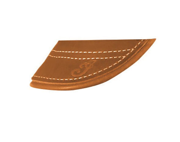 Genuine Leather Front Mud Flap -Desert Tan