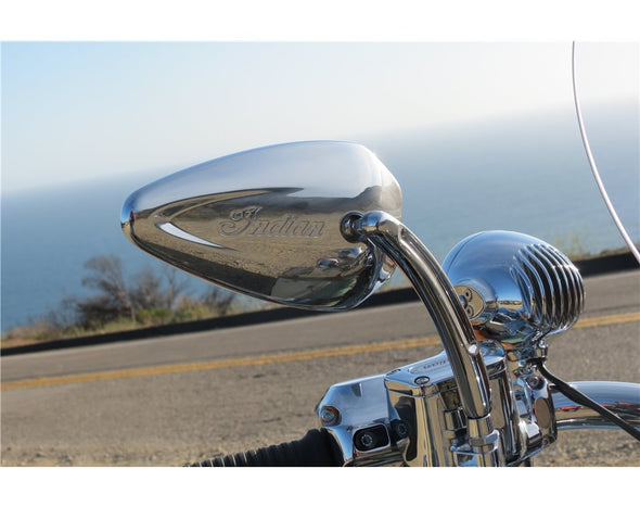Pinnacle Mirrors in Chrome, Pair