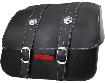 Genuine Leather Saddlebags - Black