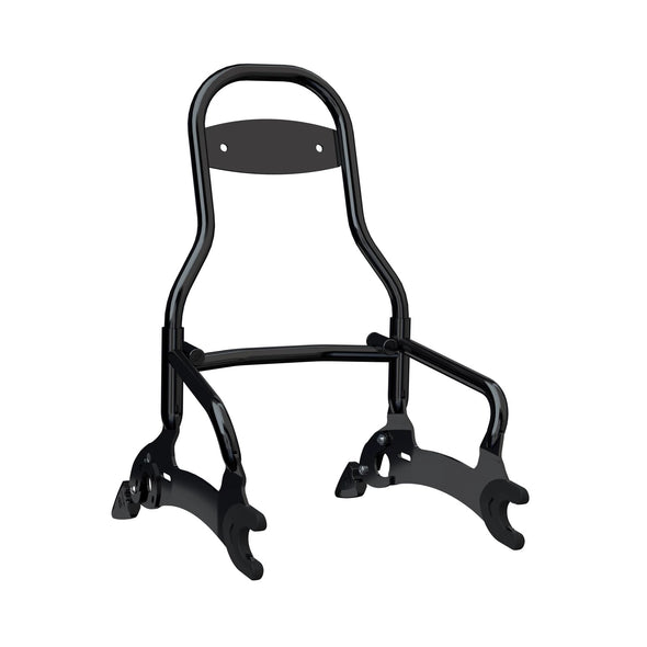 Steel 12 in. Quick Release Passenger Sissy Bar -Gloss Black