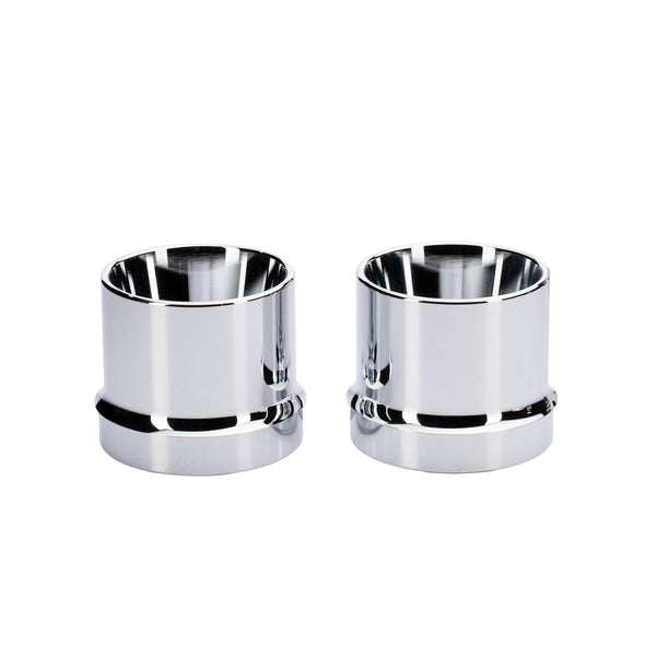 Straight Exhaust Tips, Pair -Chrome