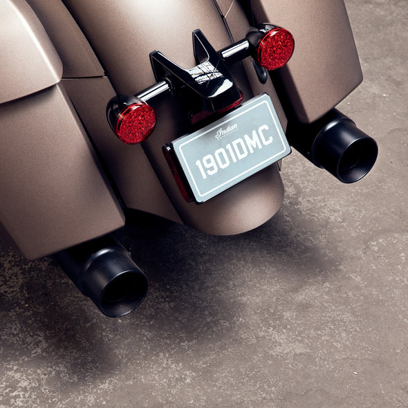 Straight Exhaust Tips, Pair -Black