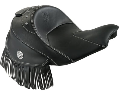 Genuine Leather Heated Rider Seat -Black