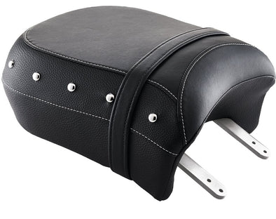 Genuine Black Leather Heated Passenger Seat -Black