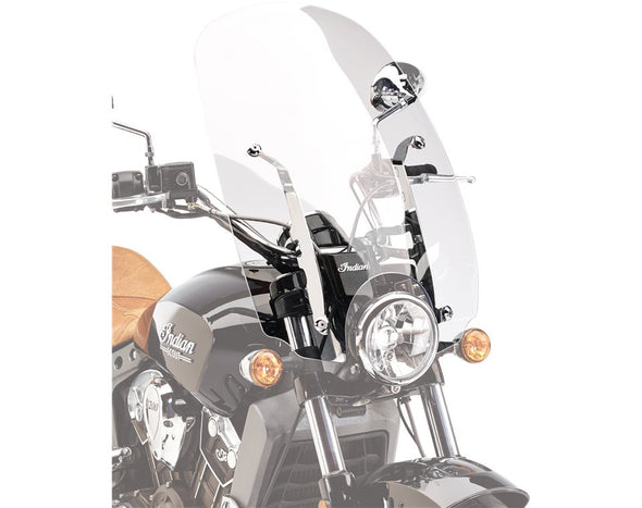 Polycarbonate 24 in. Quick Release Windshield -Clear