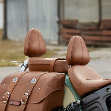 All-Weather Vinyl Touring Passenger Seat - Brown