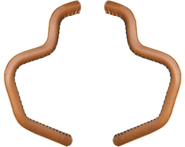 Genuine Leather Mustache Highway Bar Wraps, Pair -Desert Tan