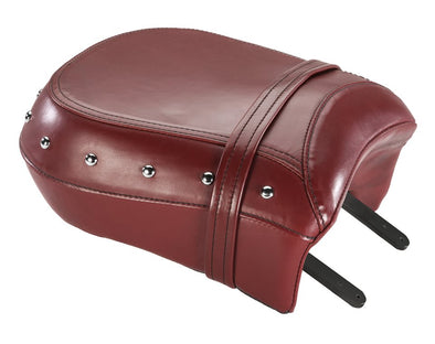Genuine Leather Heated Passenger Seat -Red with Studs