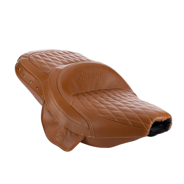 Genuine Leather Extended Reach Heated Seat - Dessert Tan