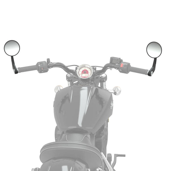 Bar End Mirror and Mount Kit in Black, Pair