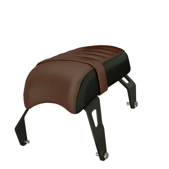 Genuine Leather Passenger Seat -Brown