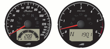 Black Dial Face Speedometer and Tachometer by Indian Motorcycle®