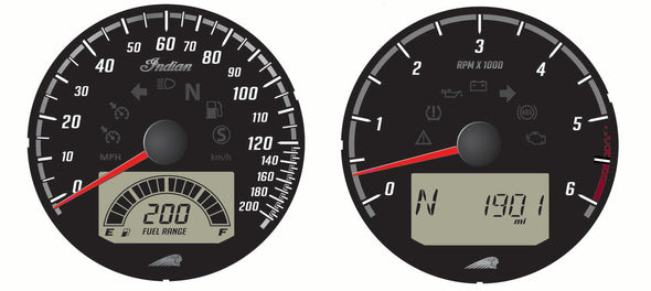 Speedometer and Tachometer Dials -Black