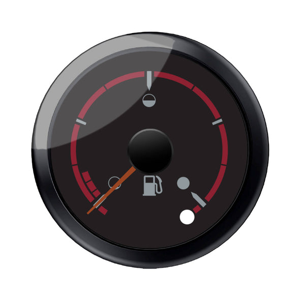 Black Dial Face Fuel Gauge -Black