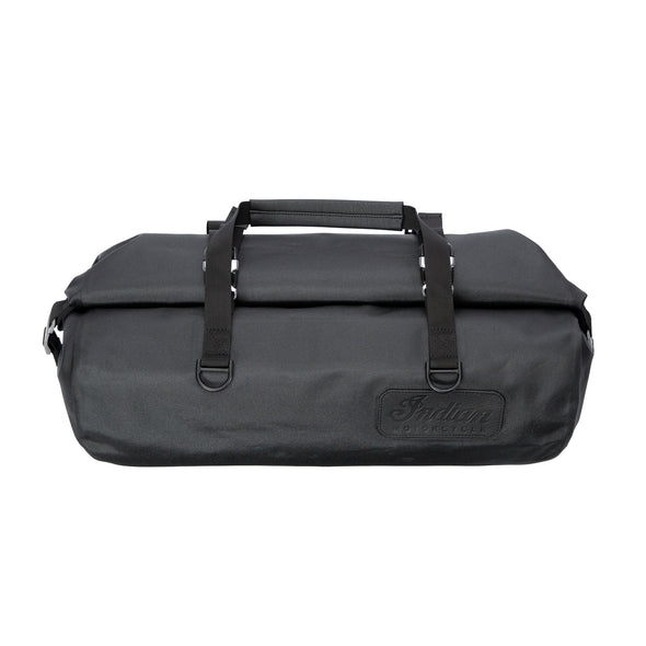 All-Weather Vinyl Duffle Bag with Shoulder Strap -Gray/Black