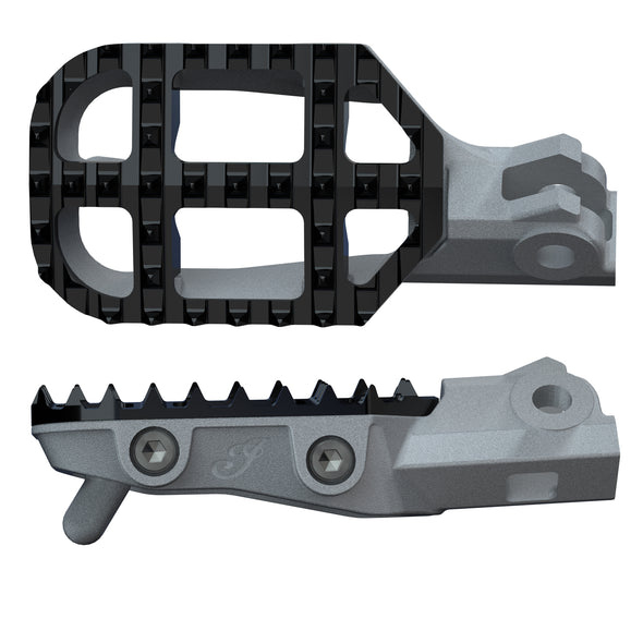 ProTaper® Rally Foot Pegs in Gray/Black, Pair