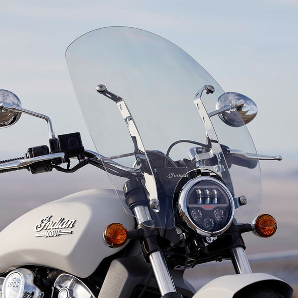 Polycarbonate 24 in. Quick Release Windshield -Chrome