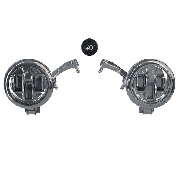 Pathfinder S LED Driving Lights Mount -Chrome (Challenger)