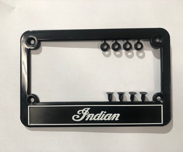 Indian Plastic Number Plate Surround -Black