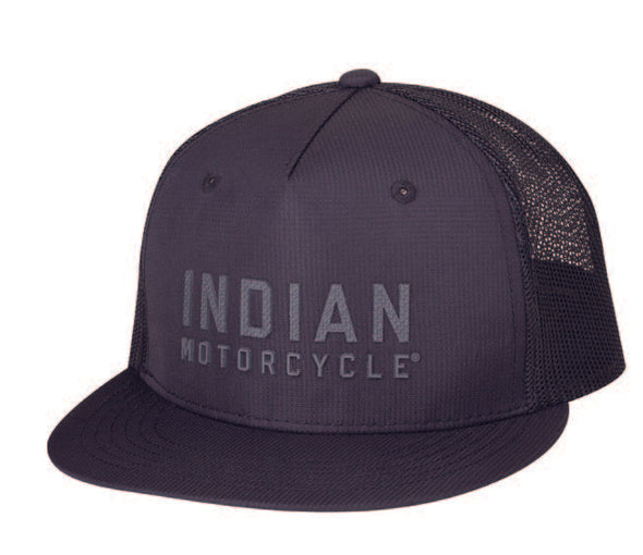 High Profile Block Logo Hat, Black by Indian Motorcycle®