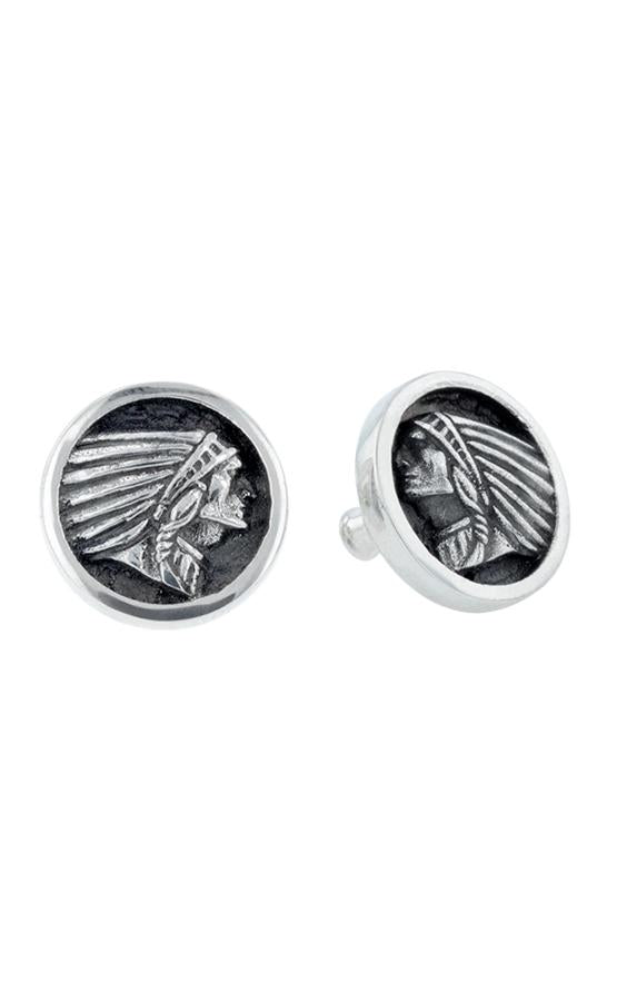 Indian Headdress Coin Stud Earrings