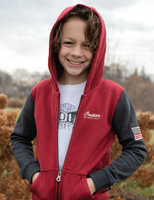 Kids Long-Sleeve Legend Hoodie -Red