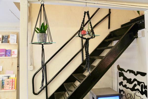 Black Hanging Shelf w/ glass
