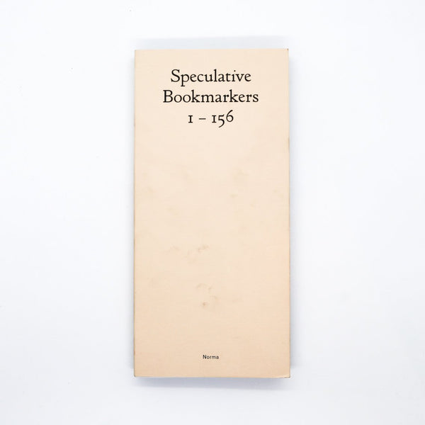 Speculative Bookmarkers 1 — 156