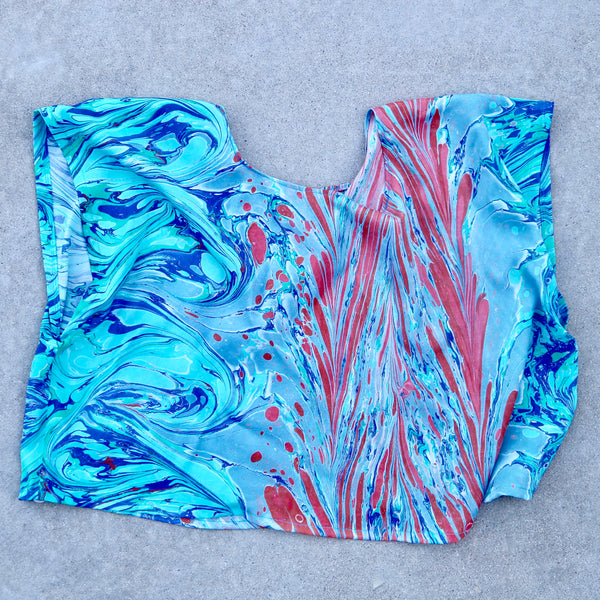 Marbled Silk Top
