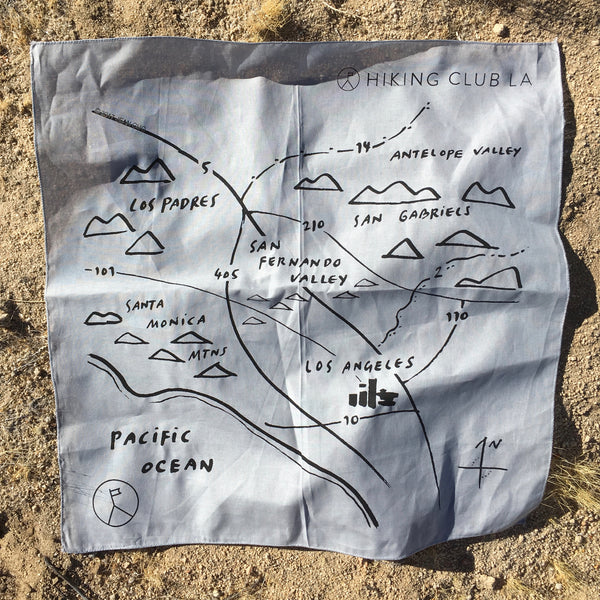 "Hiking Club LA ""Map"" Bandana"