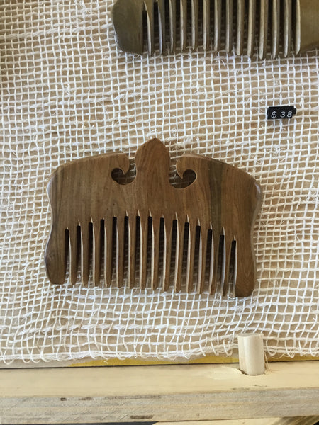 sandal wood ornate comb
