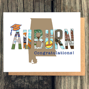Auburn University Graduation Card