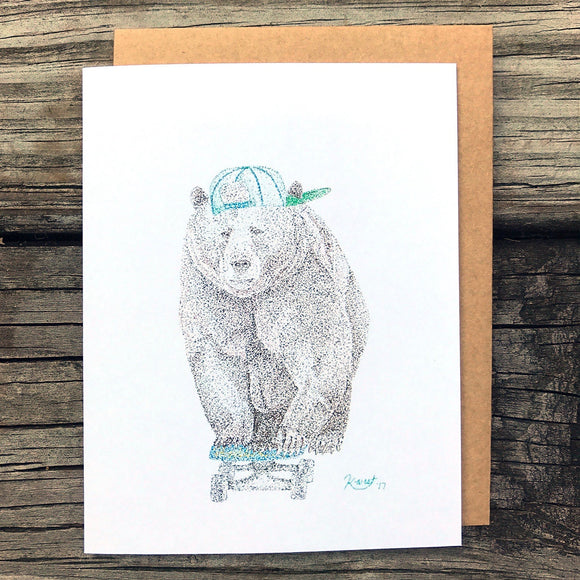 Bear Skating Card