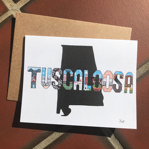 Tuscaloosa Alabama Card