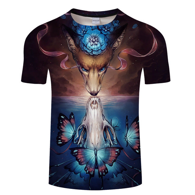 3dae68e97eb0 Wolf Printing 3D Men T-shirt Cool Design – AW WolfShop