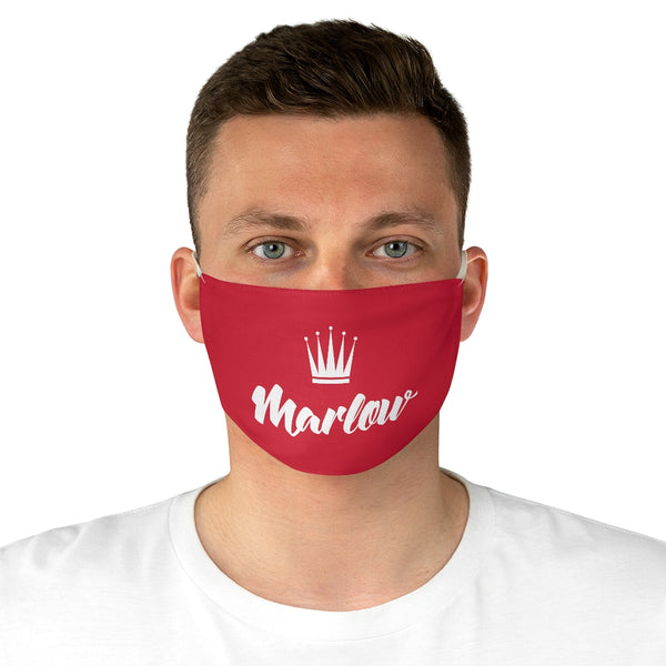 Marlow Logo Fabric Face Mask (Red)