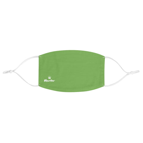 Small Logo Fabric Face Mask (Green)